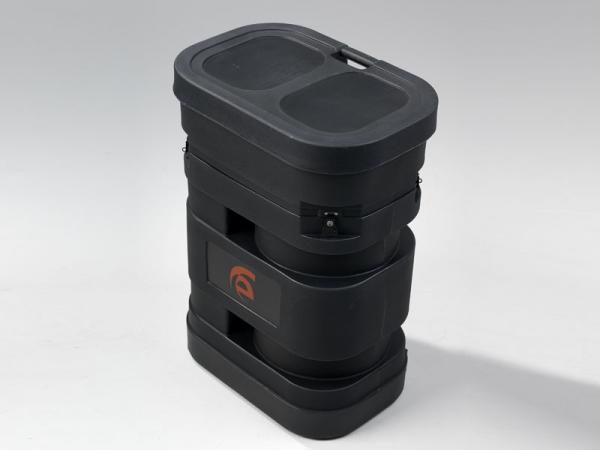 "Roto-molded Oval Pop Up Case with Wheels (28"" W x 19"" D x 38"" H)"
