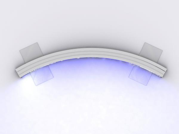 VK-1949 SuperNova Curved Lightbox -- Plan View